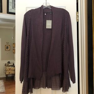 NWT Anthropologie Cable Cardigan sz large